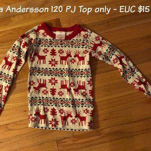 Hanna Andersson 120 PJ Top - Reindeer